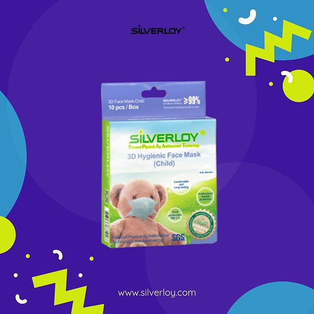 Silverloy anti-bacterial mask - 3D children's wear